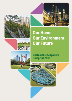 Sustainable Singapore Blueprint 2015 cover