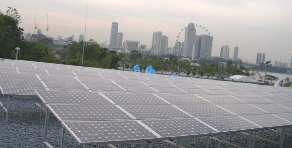 Solar Park at Marina Barrage
