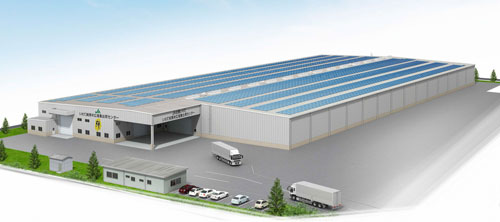 Image-of-a-solar-power-generating-system-on-a-Zen-Noh-Group-logistics-center-in-Hanamaki-Iwate-Pref.-Japan-approx.-800kW
