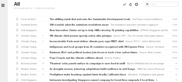 Feedly (title layout)